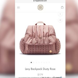 Happ Brand Backpack In Dusty Rose color.